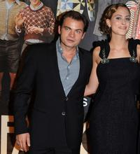 Clovis Cornillac and Nora Arnezeder at the premiere of