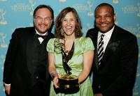 Jim Martin, Nadine Zylstra and Kevin Clash at the 34th Annual Daytime Creative Arts and Entertainment Emmy Awards.
