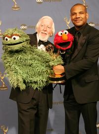 Carroll Spinney and Kevin Clash at the 33rd Annual Daytime Emmy Awards.
