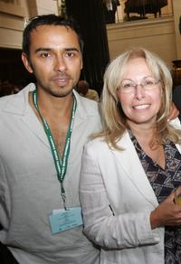 Damon D'Oliveira and Grace Davis at the Think film's TIFF Breakfast.