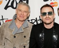 Adam Clayton and Bono at the Brit Awards 2009.