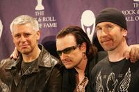 Adam Clayton, Bono and The Edge at the 20th Annual Rock And Roll Hall Of Fame Induction Ceremony.