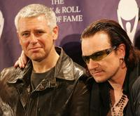 Adam Clayton and Bono at the 20th Annual Rock And Roll Hall Of Fame Induction Ceremony.