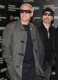 Adam Clayton and The Edge at the European premiere of