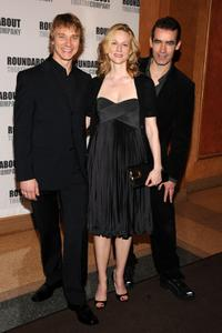 Ben Daniels, Laura Linney and Director Rufus Norris at the after party of the opening night of
