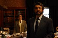 Guillermo Francella as Pablo Sandoval and Ricardo Darin as Benjamin Esposito in
