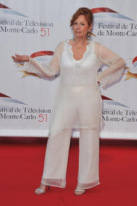 Eva Darlan at the opening night of the 2011 Monte Carlo Television Festival in Monaco.