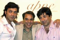 Bobby Deol, Dharmendra and Sunny Deol at the promotion of