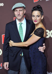 Jonathan Ames and Jenny Slate at the New York premiere of