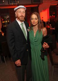 Jonathan Ames and Fiona Apple at the premiere of