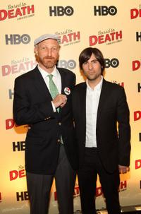 Jonathan Ames and Jason Schwartzman at the premiere of