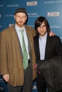 Jonathan Ames and Jason Schwartzman at the screening of