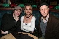 Musician De, Meital Dohan and Jonathan Ames at the New York Magazine Oscar Viewing party.