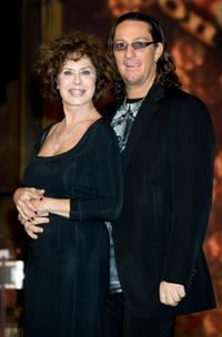 Corinne Clery and dancer Chuck Danza at the photocall of Italian TV show