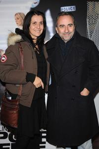 Antoine Dulery and Wife at the Paris premiere of