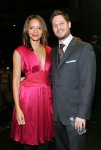 Carmen Ejogo and Jason Smilovic at the premiere of