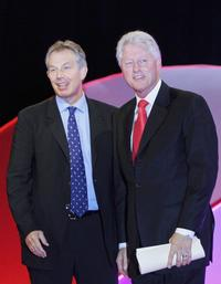 Tony Blair and Bill Clinton at the Labour Party Conference 2006.