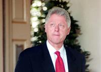 Bill Clinton at the White House in Washington.