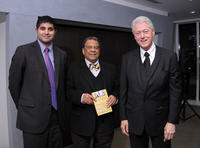 Author Kabir Sehgal, Ambassador Andrew Young and Bill Clinton at the