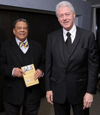 Ambassador Andrew Young and Bill Clinton at the