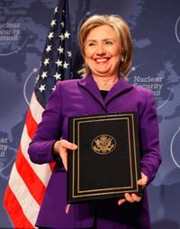 Hillary Rodham Clinton at the Nuclear Safety Summit.