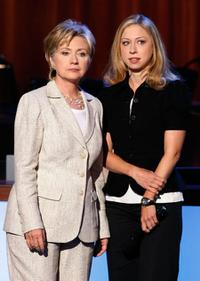 Hillary Rodham Clinton and Chelsea Clinton at the 2008 Democratic National Convention.