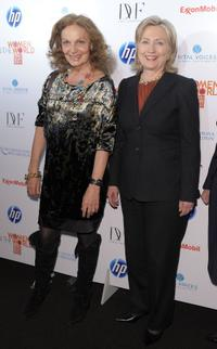 Diane von Furstenberg and Hillary Rodham Clinton at the