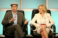 Glenn Close and Todd A. Kessler at the FX Network portion of the Television Critics Association Press Tour for ''Damages''.