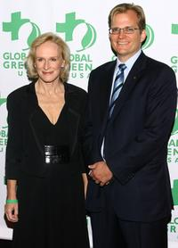 Glenn Close and CEO of Global Green Matt Peterson at the Global Green USA's annual Sustainable Design Awards.