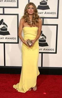 Stacy Ferguson at the 50th Annual Grammy awards.