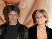 Isabella Ferrari and her husband Renato De Maria at the Italian premiere of