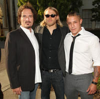 Kim Coates, Charlie Hunnam and Theo Rossi at the season two premiere of