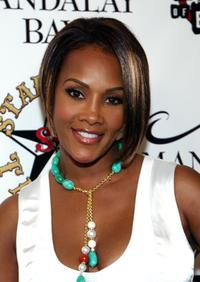 Vivica A. Fox at the grand opening of Mario Barths Starlight Tattoo.