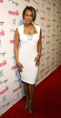 Vivica A. Fox at the dual birthday party of Stacy Fergie Ferguson and Quentin Tarantino.