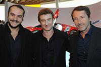 Francois-Xavier Demaison, Thierry Fremont and Jean-Hugues Anglade at the 2010 Paris Motor Show.