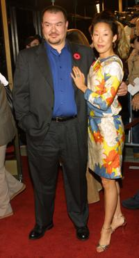 Patrick Gallagher and Sandra Oh at the Los Angeles premiere of