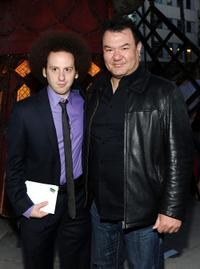 Josh Sussman and Patrick Gallagher at the Twentieth Century Fox 75th Anniversary party.