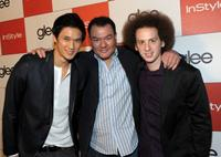 Harry Shum Jr., Patrick Gallagher and Josh Sussman at the celebration of Glee's Golden Globe nominations with InStyle and 20th Century Fox.