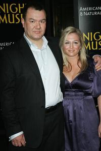 Patrick Gallagher and Adrienne Annau at the premiere of