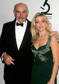 Sean Connery and Claudia Gerini at the American-Italian Cancer Foundation Annual Benefit Gala.