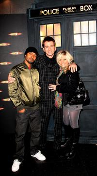 Noel Clarke, David Tennant and Camille Coduri at the gala screening of