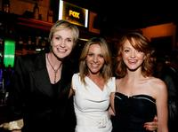 Jane Lynch, Jessalyn Gilsig and Jayma Mays at the Fox's Upfront presentation.
