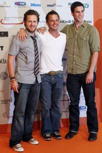 A.J. Buckley, Carmine Giovinazzo and Eddie Cahill at the Roma Fiction Fest 2008.