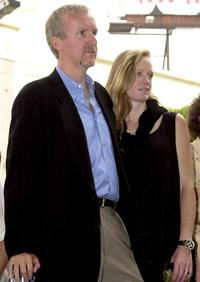 Suzy Amis and James Cameron at the Hollywood Walk of Fame.