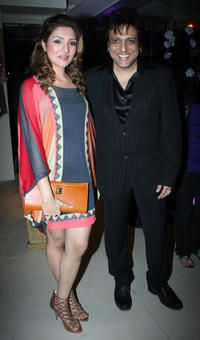 Namrata Ahuja and Govinda at the launch of fashion designer Vikram Phadnis' Malaga flagship store.