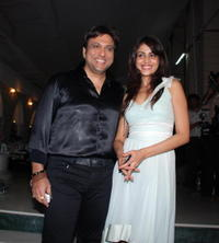 Govinda and Gelenia at the party for the film