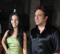 Amrita Rao and Govinda at the party for the film