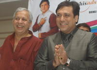 Director Raman Kumar and Govinda at the press conference of