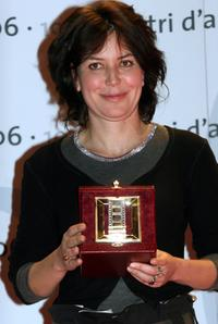 Sabina Guzzanti at the Italian Film Critics Movie Awards.