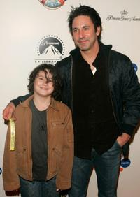 Scott Cohen and son Liam at the premiere of